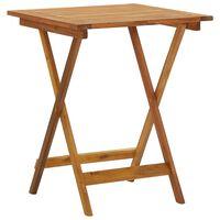 vidaXL Zložljiva vrtna miza 60x60x75 cm trden akacijev les