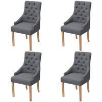 vidaXL Jedilni stoli 4 kosi temno sivo blago