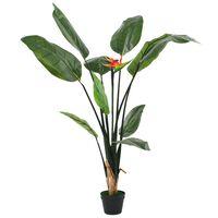 vidaXL Umetna rastlina strelicija / rajska ptica 155 cm