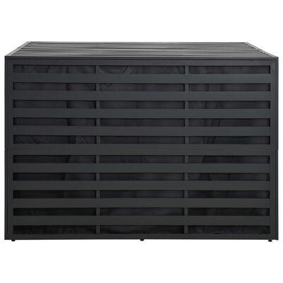 vidaXL Vrtna škatla za shranjevanje aluminij 150x100x100 cm antracitna