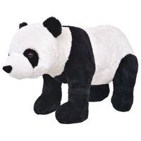 vidaXL Stoječa plišasta panda XXL črna in bela