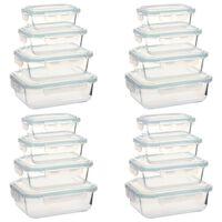 vidaXL Steklene posode za živila 16 kosov