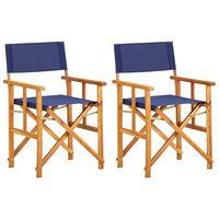 vidaXL Režiserski stol trden akacijev les moder