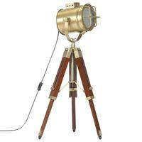 vidaXL Trinožna stoječa svetilka trden mangov les 69 cm