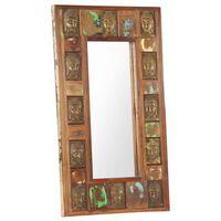 vidaXL Ogledalo z Budo 50x80 cm trden predelan les