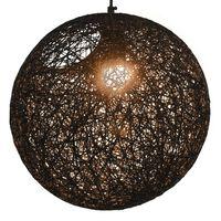 vidaXL Viseča svetilka črna krogla 35 cm E27
