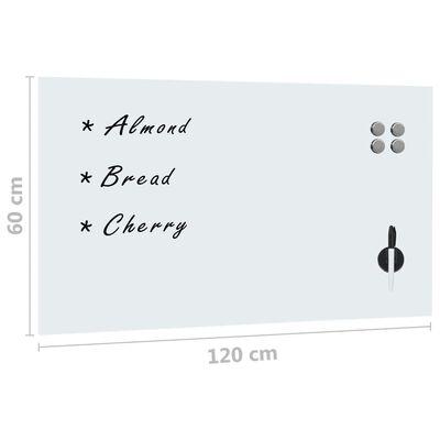 vidaXL Stenska magnetna tabla iz stekla 120x60 cm