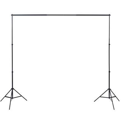vidaXL Komplet za fotografski studio z mizo, osvetljavo in ozadji