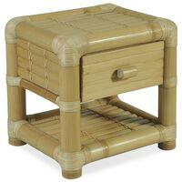 vidaXL Nočna mizica 45x45x40 cm bambus naravne barve
