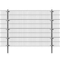 vidaXL Ograjni paneli s stebrički premazano železo 6x1,6 m antracit