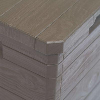 vidaXL Vrtna škatla za shranjevanje 90 L rjava