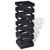Črno Kvadratno Stojalo za Dežnike in Sprehajalne Palice 48,5 cm