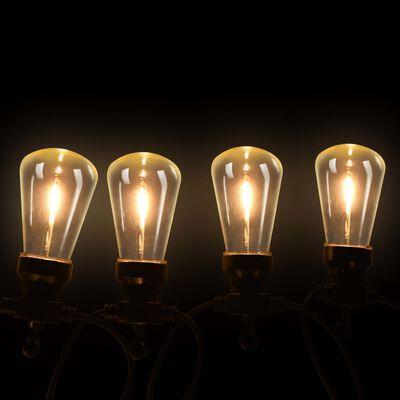 vidaXL Zunanje svetilke na vrvici 20 kosov ovalne 23 m