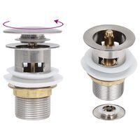 vidaXL Sifon s funkcijo proti prelivanju srebrn 6,4x6,4x9,1 cm