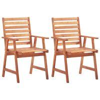 vidaXL Zunanji jedilni stoli 2 kosa trden akacijev les