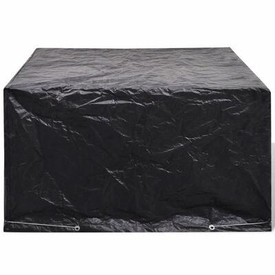 vidaXL Pokrivalo za vrtno pohištvo za 6 oseb poli ratan 172x113 cm