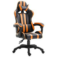 vidaXL Gaming stol oranžno umetno usnje