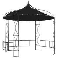 vidaXL Paviljon 300x290 cm antraciten okrogel