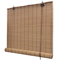 vidaXL Rolo senčilo iz bambusa 150x160 cm rjave barve