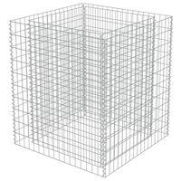 vidaXL Visoka greda gabion pocinkano jeklo 90x90x100 cm