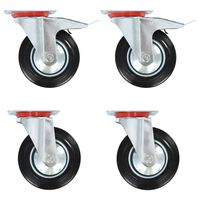 vidaXL Gibljiva kolesa 12 kosov 160 mm