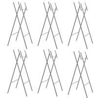 vidaXL Zložljive noge za mizo 6 kosov srebrne 45x55x112 cm jeklo