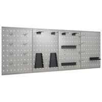 vidaXL Stenske plošče za obešanje orodja 4 kosi 40x58 cm jeklo