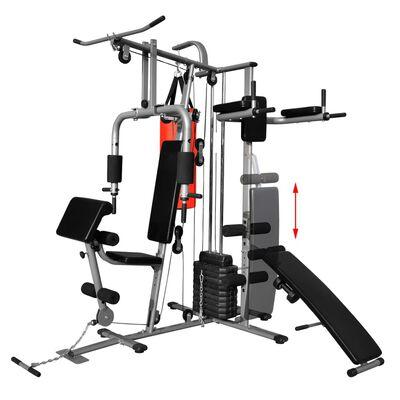 vidaXL Večnamenska fitnes naprava z 1 boksarsko vrečo 65 kg