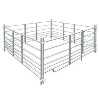 vidaXL 4 delna ograda za ovce iz pocinkanega jekla 183 x 183 x 92 cm