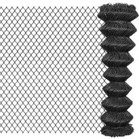vidaXL Verižna ograja iz jekla 15x1,5 m siva