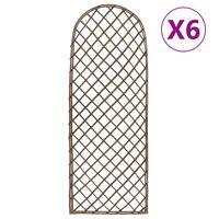 vidaXL Vrtne oporne mreže 6 kosov 45x120 cm vrba