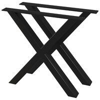 vidaXL Noge za jedilno mizo 2 kosa X okvir 80x72 cm