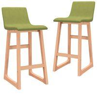 vidaXL Barski stolčki 2 kosa zeleno blago