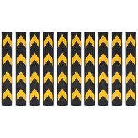 vidaXL Odsevna zaščita za robove guma 10 kosov 80 cm