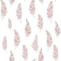 Urban Friends & Coffee Tapeta perje bela in roza