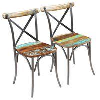 vidaXL Jedilni stoli 2 kosa trden predelan les