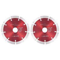 vidaXL Diamantni rezalni diski 2 kosa iz jekla 125 mm