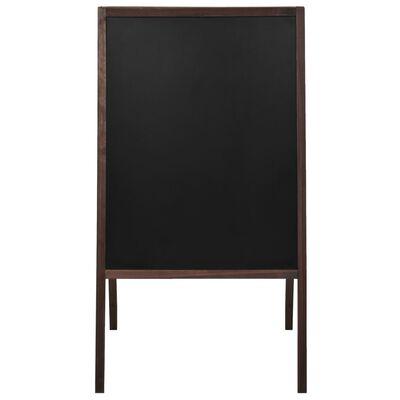 vidaXL Dvostranska črna tabla iz cedrovine prostostoječa 60x80 cm
