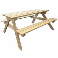 vidaXL Miza za piknik 150x135x71,5 cm lesena