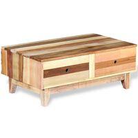 vidaXL Klubska mizica iz trdnega predelanega lesa