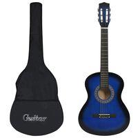 """vidaXL Klasična kitara za začetnike s torbo modra 3/4 36"""""""