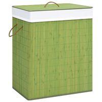 vidaXL Košara za perilo iz bambusa zelena 83 L
