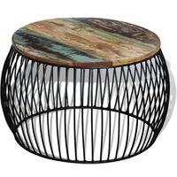 vidaXL Klubska mizica okrogla trden predelan les 68x37 cm