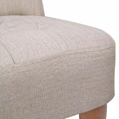 vidaXL Francoski stoli 2 kosa krem blago