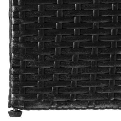 vidaXL Vrtna škatla črna 150x100x100 cm poli ratan