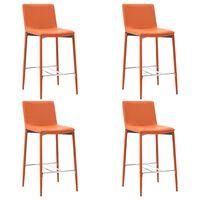 vidaXL Barski stolčki 4 kosi oranžno umetno usnje