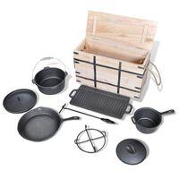 Set Posod za Pripravo Hrane nad Ognjem 9 Kosov
