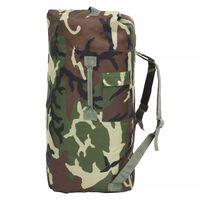 vidaXL Potovalna torba vojaškega stila 85 L kamuflažne barve