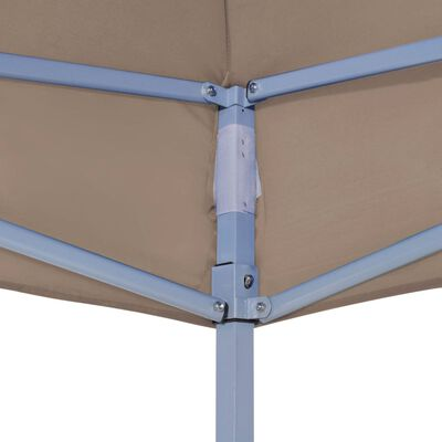 vidaXL Streha za vrtni šotor 3x3 m taupe 270 g/m²