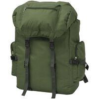 vidaXL Nahrbtnik v Vojaškem Stilu 65 L Zelene Barve